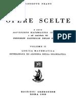 Giuseppe Peano - Opere Scelte Vol. 2