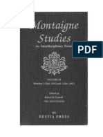 Montaigne Studies 3