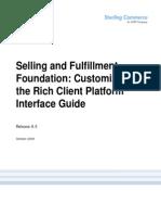 Customizing RCP Interface
