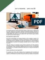Anímate a Crear Tu Imprenta - Pero Una 3D