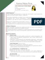 Curriculum Vitae Karina Mejia (2015)