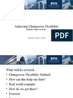 Achieving Changeover Flexibility