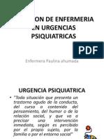 Clase Paulina Urgencia Psiquiatrica