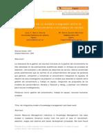 Propuesta de Modelo Integrador Entre La Gestion Del Conocimiento y El Trabajo en Equipo
