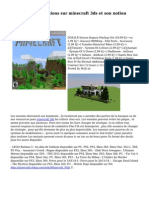 Le plein d'informations sur minecraft 3ds et son notion