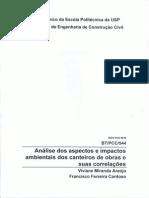 Boletim Tecnico Analise Dos Aspectos e Impactos Ambientais Em Canteiros de Obras e Suas Correlacoes