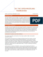 Open Modeling Framework Overview