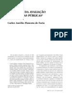 FARIA - 2005 - A Política da Avaliação de Políticas Públicas.pdf