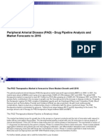 Peripheral Arterial Disease (PAD) - Drug Pipeline Analysis and Market Forecasts to 2016