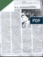 Partido Obrero. MAS Burgués y Proimperialista