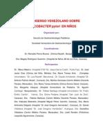 15-09-2014 Consenso Venezolano Sobre Helicobacter Pylori en Ninos