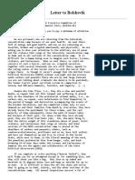 letter to bolshevik