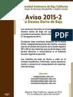 Aviso de Baja 2015-2