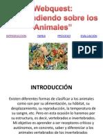 webquest aprendiendo de los animales