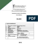Syllabus Epidemiología Clínica UPCH 2015