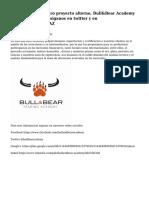 Presentamos nuestro proyecto alterno, Bull&Bear Academy @bullbearacdemy, siganos en twitter y en http://buff.ly/1CiglAZ