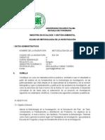 Silabo Final de Metodologia de La Investigacion Ff