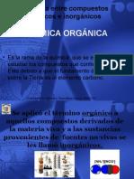 Diferencias Compuestos Organicos e Inorganicos