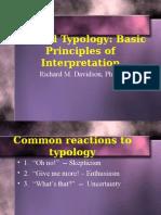 Biblical Typology Basic Principles of Interpretation - Richard Davidson