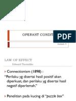 Kuliah 4 - Operant Conditioning1