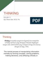 Kuliah 11 - Thinking