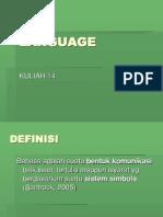 Kuliah 14 - Bahasa