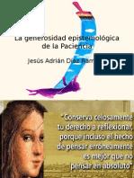Sobre La Generosidad Epistemológica de La Paciencia.