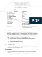 Silabo - Cálculo II - Ing Civil - Ignacio Velasquez Hacha,