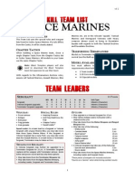 Kill Team List - Space Marines v3.2