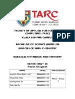 BABS2244 METABOLIC BIOCHEMISTRY