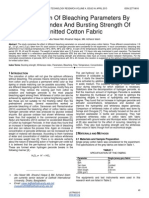 Optimization of Bleaching Parameters by Whiteness Index and Bursting Strength of Knitted Cotton Fabric