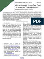 Resource Potential Analysis of Honey Bee Feed Apis Dorsata in Mountain Tinanggo Kolaka