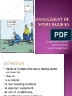 Sports Injuries Management (1st Aider)