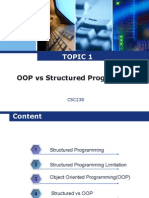 Structured vs Object Oriented Programming
