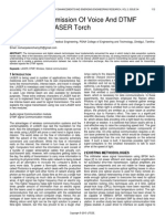 Low Cost Transmission of Voice and Dtmf Signals Using Laser Torch