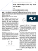 A Review on Design and Analysis of D Flip Flop With Different Technologies