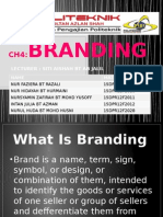 Branding for advertising