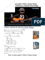 How to Play Guitar Volare Gypsy Kings Video Tutorials pdf