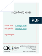 Intro Marxan for conservation plan