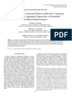 Understand Rural Livelihoods- Comparing Disaggregated vs. Aggregated Approaches to Household Livelihood Questionnaires