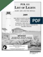 Pub. 111 List of Lights West Coasts of North & South America, Australia and Tasmania 2009.pdf