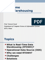 Real Time Data Warehousing