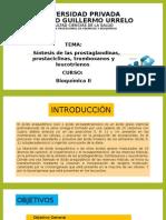 Síntesis de Prostaglandinas, Tromboxanos, leucotrines