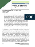 TESOL Quarterly Volume 46 Issue 3 2012 [Doi 10.1002_tesq.38] Steve Mann; Elaine Hau Hing Tang -- The Role of Mentoring in Supporting Novice English Language Teachers in Hong Kong