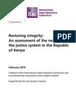 Kenya Judicial Reform 2010 ¦ Restoring integrity