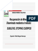 Sublevel Stopping Cuerpos