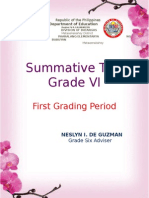 Summative Test Border