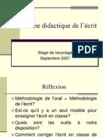 Une Methodologie de l'Ecrit