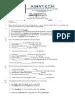 Comarts 1 Prelim Examination
