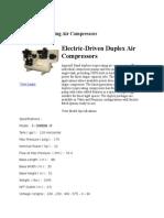 Ingersoll Rand Electric Driven Duplex Air Compressor.docx